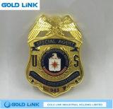 La police Badge l'emblème fait sur commande de Pin de revers d'insigne en métal