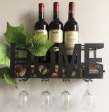 Шкаф вина утюга бутылок сбывания 6 Амазонкы горячей установленный стеной декоративный с черным покрытием