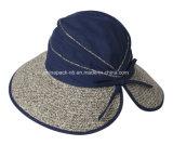 和紙のわらファブリック日曜日の帽子(CPHC8027X)