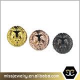 Branelli su ordinazione di fascino della testa del leone dell'oro per il braccialetto che fa Mjcc040