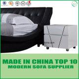 Dubai-moderne Schlafzimmer-Möbel-reales ledernes Bett