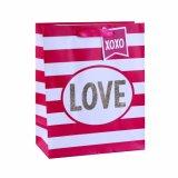 Valentinstag-gestreifte Kleidungs-Kosmetik-romantische Geschenk-Papiertüten