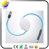 Universalität 2 in 1 Mikro-USB-Stretchable Kabel-aufladennetzkabel mit 1m langem Netzanschlusskabel für Android und iPhone