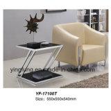 Домашняя таблица Yf-T17098 Tempered стекла рамки нержавеющей стали мебели