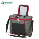 Poliéster de alta calidad bolsillo frontal con cremallera compartimento superior de la bolsa de refrigerador