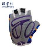 セリウムが付いている半分指の手袋のスポーツの手袋の乗馬または自転車の手袋