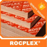 Rocplex 색깔 합판, 필름은 포플라 코어를 가진 합판을 직면했다