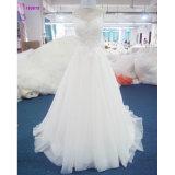 Sleeveless Spitze-Mieder des populären Entwurfs-160618 eine Zeile Hochzeits-Kleid