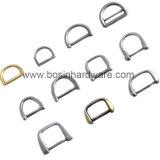 """anello a """"D"""" d'acciaio del metallo placcato oro di 32mm"""