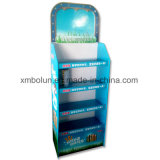 Impresión colorida cuatro neumáticos cartón Piso Soporte de pantalla para publicidad