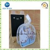 Bolso cosmético del recorrido impermeable claro transparente de la manera del PVC (jp-plastic057)