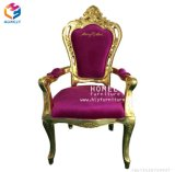 De goedkope Stoel van de Troon van de Koning van het Huwelijk Gouden Koninklijke voor Koningin Wholesale