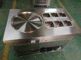 Máquina caliente del helado de la fritada de la venta con las cacerolas del plano doble