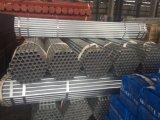 Tubo de acero galvanizado en caliente con el extremo del tubo roscado con acoplamiento y fulminantes.