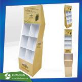 Expositor de suelo de cartón plegable con 6 bolsillos, Pop personalizada cartón bebidas Mostrar fabricante OEM/ODM