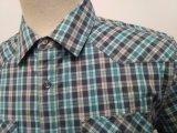Het garen Geverfte die Overhemd van de Mens van de Popeline van de Rek met Zak Twee met Lichaam wordt aangepast