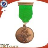 Medalla barata de encargo al por mayor del recuerdo de la dimensión de una variable redonda de la medalla de oro del metal