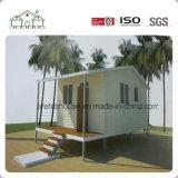 Casa plana del jardín de la cafetería prefabricada de la casa de playa