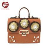 Yc-H021 Fashion Senhoras Faux pendões de bolsas de couro Crystal Diamante Crossbody Bag Bolsa de caminho de ombro da mulher