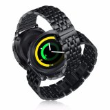 De regelbare Zwarte Stevige Riem van het Horloge van het Roestvrij staal voor de Band van de Sport van het Toestel van Samsung
