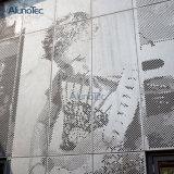 Алюминиевая картина экрана отрезока лазера панели фасада металла плакирования