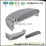 Dissipador de calor em alumínio anodizado personalizado para extrusão de LED