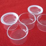 溶かされた正方形の形の無水ケイ酸のガラス容器を取り除きなさい