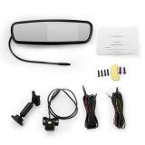 """LCD TFT 4,3"""" de estacionamento automóvel Espelho Retrovisor Monitor com suporte especial para carro"""