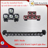 DIY 작풍! 18W 크리 말 LED Work Light. 및 Side 및 Side.는 Installed Freely 여기저기 일 수 있다