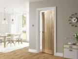 Porte en bois conçue par placage normal de chêne pour la Chambre