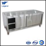 Modules soudée/d'Assemblée acier inoxydable de cuisine avec les portes coulissantes