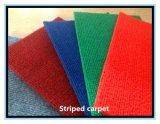 Punção de agulha de poliéster de veludo de tiras de simples tapete exposições para casamento, mostrar, carro, hotel e outros locais