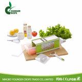 3 нержавеющая сталь круглого ножевого полотна Mandoline овощи и фрукты спираль резательное оборудование