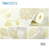 Impermeabilización Fibra de poliéster interior cubierto de papel tapiz decorativo Panel de insonorización para el panel de pared