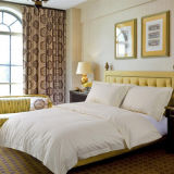 モーテルの/Postのインのための広く利用された綿の縞の寝具セット