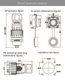 금속 덮개 강한 보호 남여 연결관 발광 다이오드 표시 방수 IP67를 위한 전기 5개의 핀 전원 연결 장치
