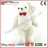 최고 연약한 아이들 아이를 위한 견면 벨벳에 의하여 채워지는 백색 장난감 곰 장난감