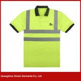 da segurança reflexiva dos homens amarelos da alta qualidade de 3m camisas de trabalho (W63)