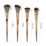il fondamento professionale di trucco delle spazzole di trucco dell'oro di 8PCS Rosa arrossisce kit di sagoma della spazzola di trucco dell'ombra di occhio di Concealer