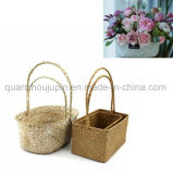 Panier en osier de fleur de fruit de traitement de fleuriste de rotin d'OEM