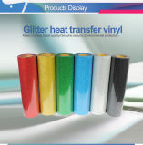 Modèle de qualité de la Corée Glitter troupeau imprimable Transfert de chaleur du rouleau de vinyle