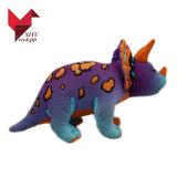 Divers types de jouet mou d'animal familier de cadeau de postes de peluche de dinosaur en gros de bébé