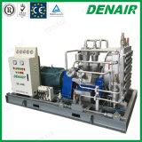 Compressor van de Lucht van de Zuiger van de Cilinder van de hoge druk de Diesel Gedreven Dubbele Vergeldende