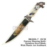 ヒョウの猟刀のキャンプのナイフすべて金属35cm