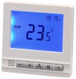En la pared termostato electrónico para la casa (HTW-31-F17).
