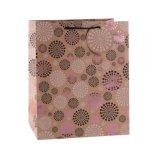 Mode Pattern fleur brun Kraft sac de papier cadeau