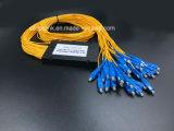 광학 섬유 케이블 Gpon 원거리 통신 1X32 PLC 쪼개는 도구 Sc/Upc