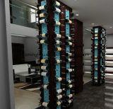 Estante colorido de la clavija del vino del montaje de la pared de los contactos del vino de Alumium