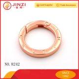 Kundenspezifisches Firmenzeichen-flacher Sprung-O-Ring für Handtaschen-Schlüsselring-Zubehör