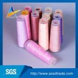 Hilo para obras de punto hecho girar el 100% Twisted adaptable rosado de los hilados de polyester